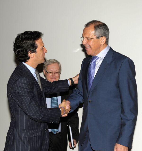 Встреча глав МИД России и Колумбии Сергея Лаврова и Хайме Бермудеса Мерисальде