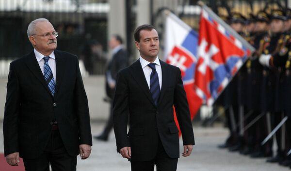 Визит Дмитрия Медведева в Словакию