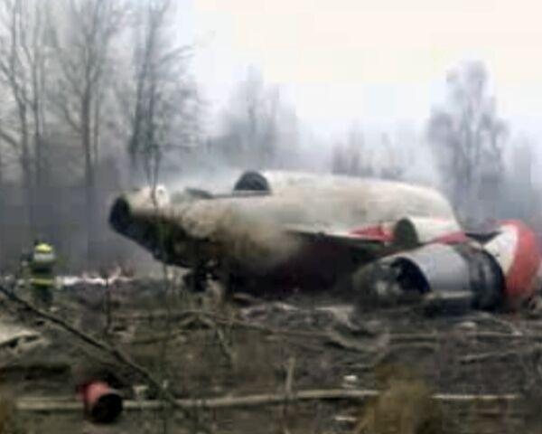 Очевидец снял место крушения Ту-154 Качиньского сразу после аварии