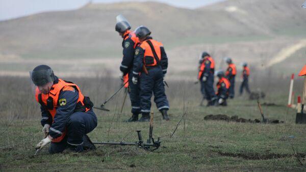 Работа российских саперов в Сербии. Архивное фото