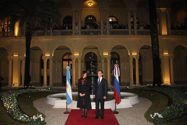 Президент России Д.Медведев с президентом Аргентины К.Ф. де Киршнер