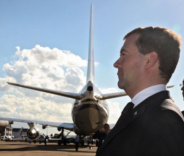 Президент РФ Дмитрий Медведев прибыл в Бразилию