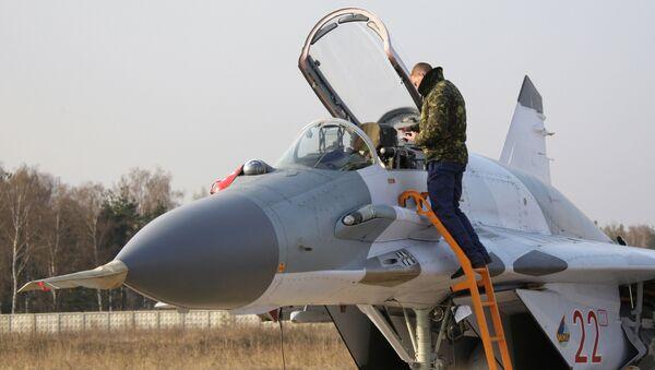 Боевой истребитель Миг-29СМТ. Архивное фото