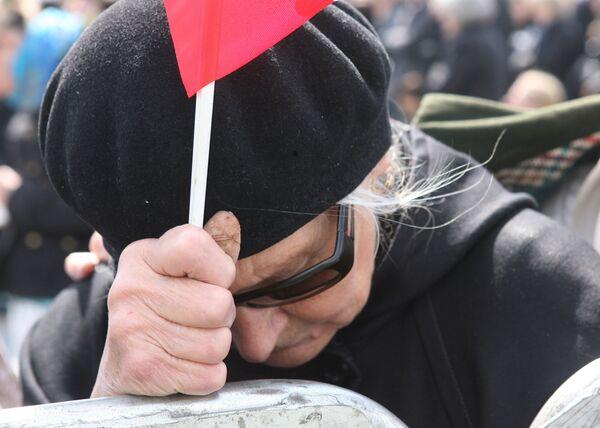 Траурная церемония прощания с жертвами авиакатастрофы под Смоленском