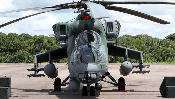 Вертолет Ми-35М. Архивное фото