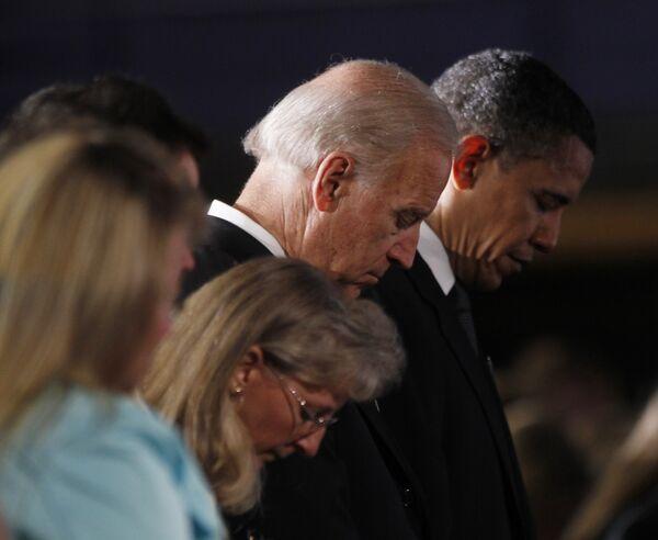 Барак Обама на церемонии прощания с погибшими шахтерами