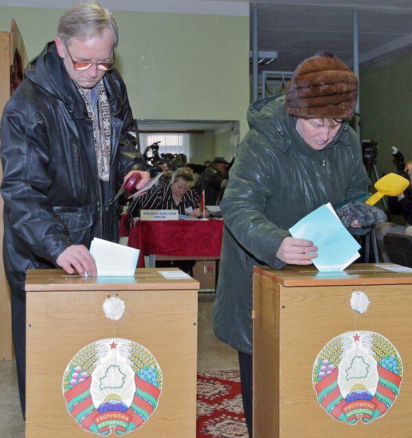 Минчане на выборах президента Белоруссии