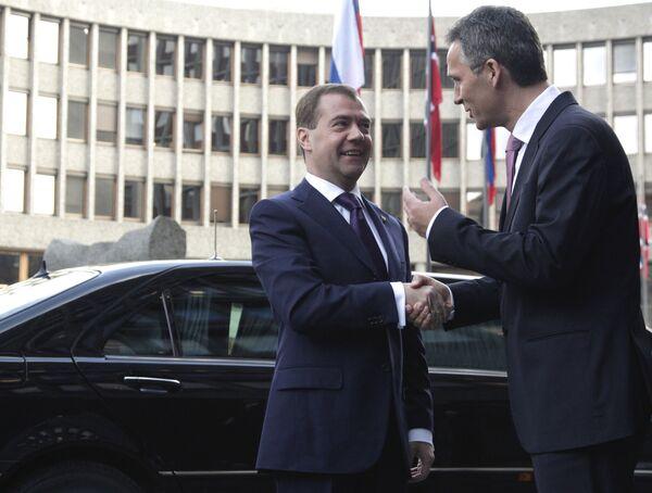 Встреча Д.Медведева с премьер-министром Норвегии Й.Столтенбергом