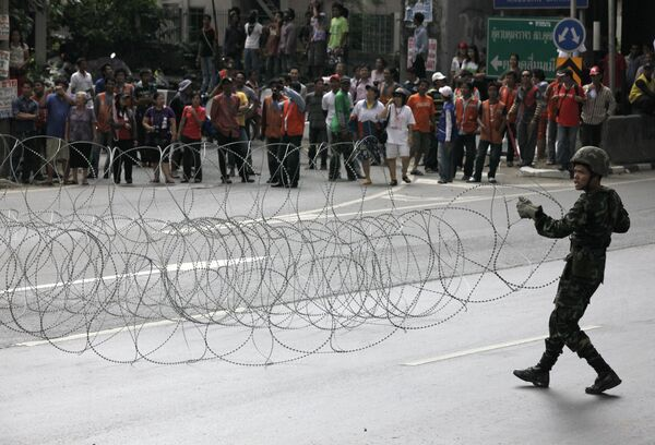 Столкновение демонстрантов с полицией в Бангкоке