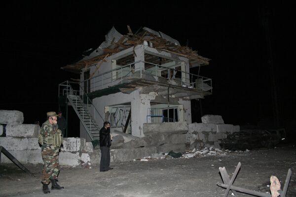 Взрыв на посту ДПС в Казбековском района Дагестана