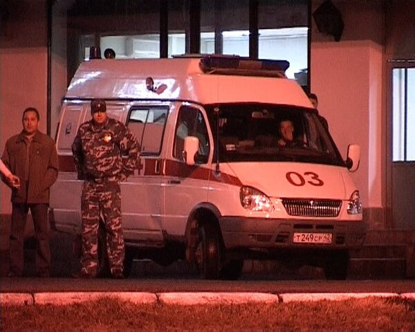 Машина скорой помощи в районе шахты Распадская
