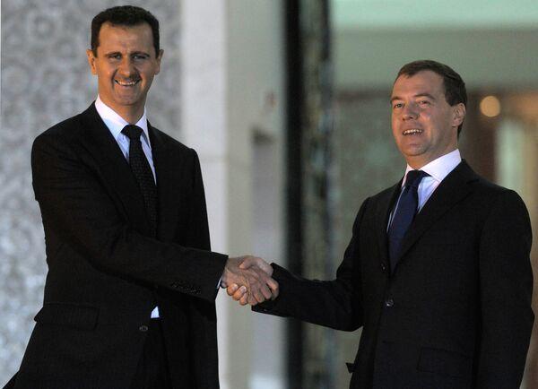 Встреча Дмитрия Медведева с Башаром Асадом