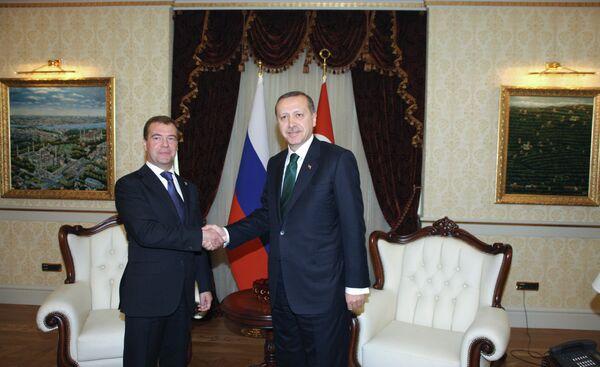 Президент РФ Д.Медведев встретился с премьер-министром Турции Р.Эрдоганом