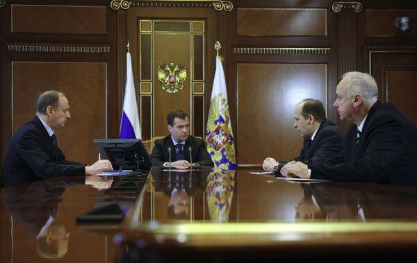 Президент РФ Д.Медведев провел совещание в Горках