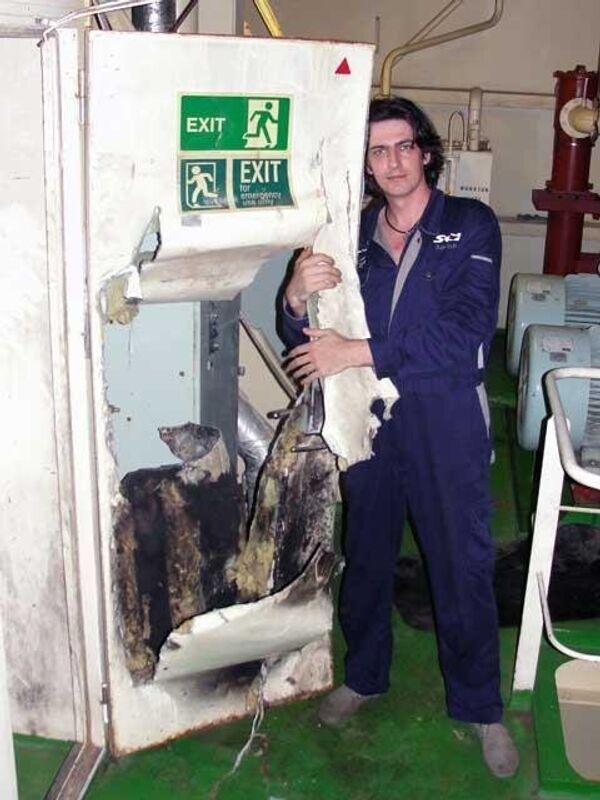Инженер-электромеханик Сергей Коценко, член экипажа танкера Московский университет
