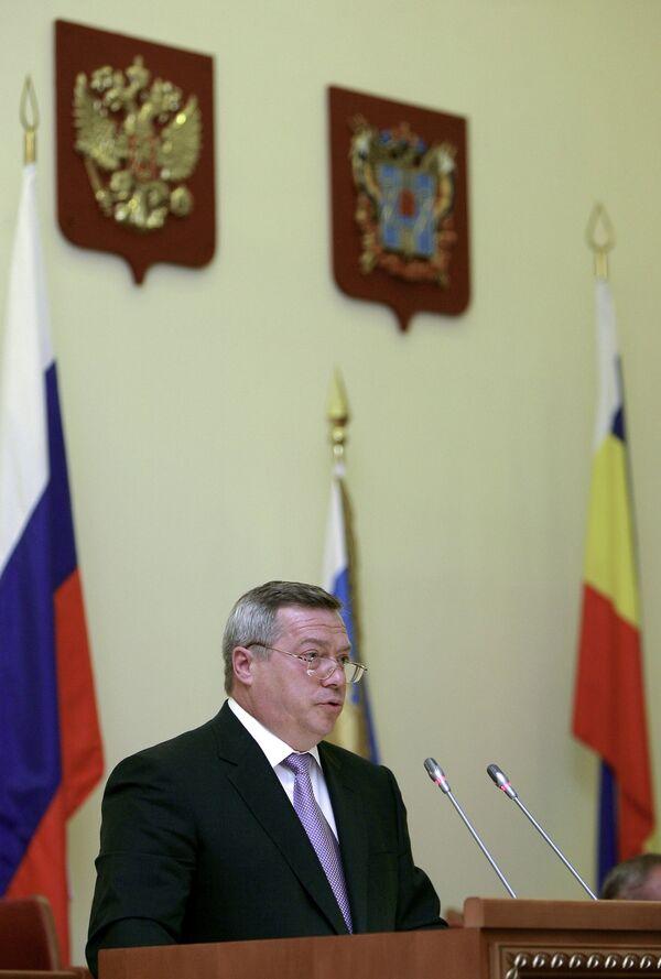 Губернатор Ростовской области Василий Голубев. Архив