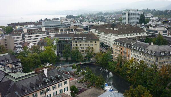 Вид на швейцарский Цюрих. Архив