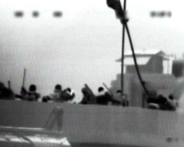 Штурм флагмана Флотилии свободы. Видео министерства обороны Израиля