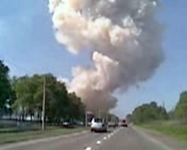Взрыв на заводе в Новокузнецке. Видео с места ЧП