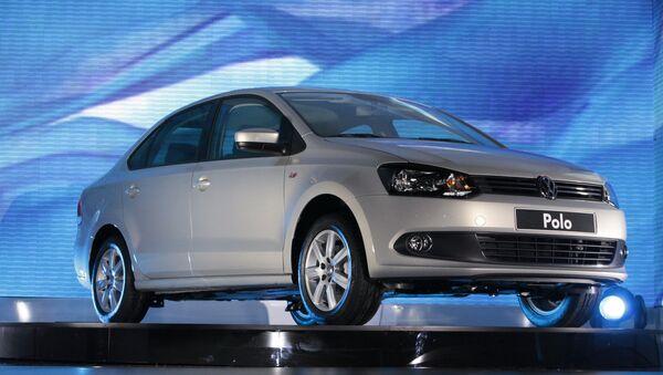Седан Volkswagen Polo. Архивное фото