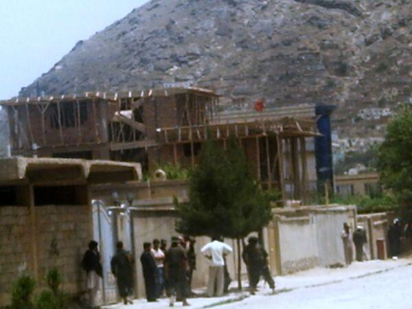 Дом в Кабуле, который захватили террористы и вели оттуда огонь по полицейским