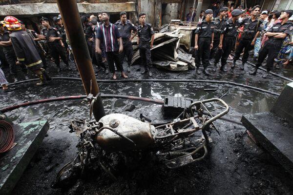 Пожар в столице Бангладеш Дакке 3 июня 2010 г.