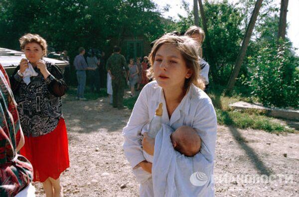 Жители Буденновска во время нападения на город террористов