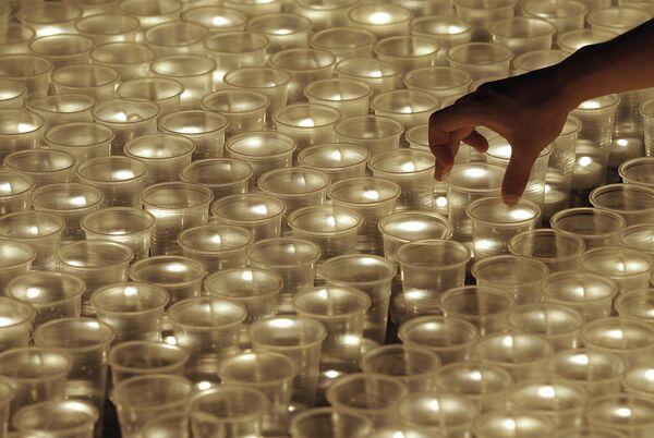 Акция 1418 свечей за каждый день войны, посвященная 69-ой годовщине начала Великой Отечественной войны, в Москве
