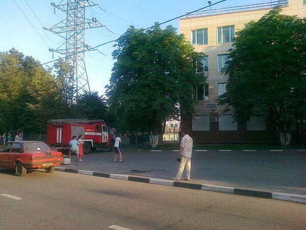 Пожар на трансформаторной подстанции на юге Москвы
