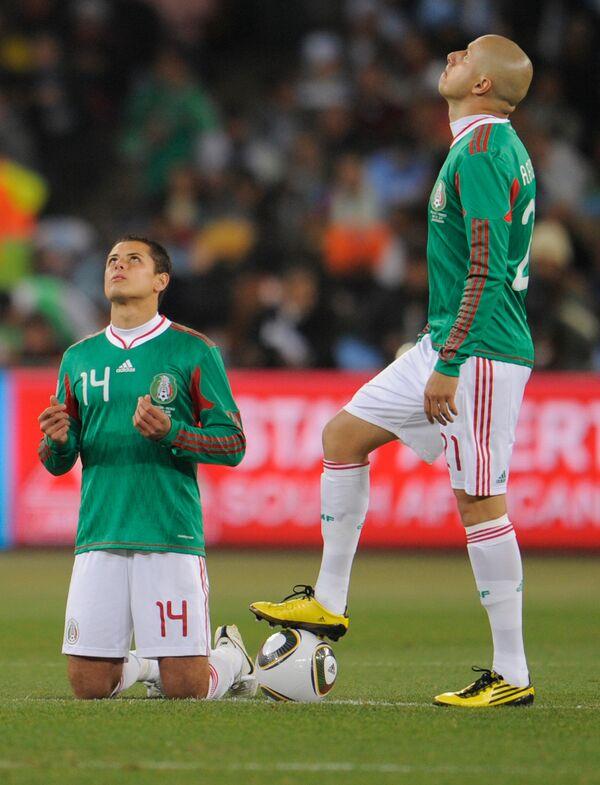 Игровой момент матча Аргентина – Мексика