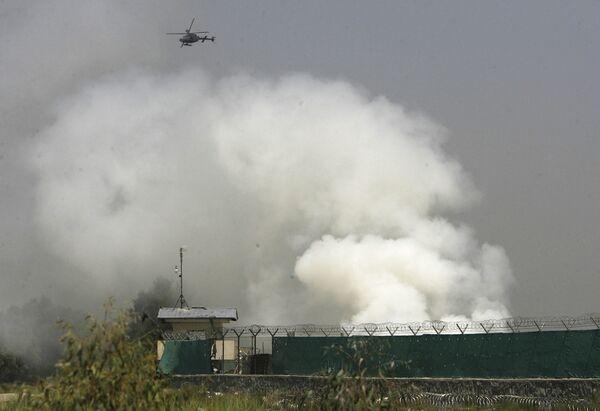 Штурм талибами военного аэродрома в городе Джелалабад на востоке Афганитана