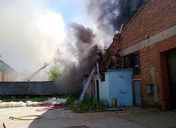 Пожар в поселке Звездочка Сергиево-Посадского муниципального района