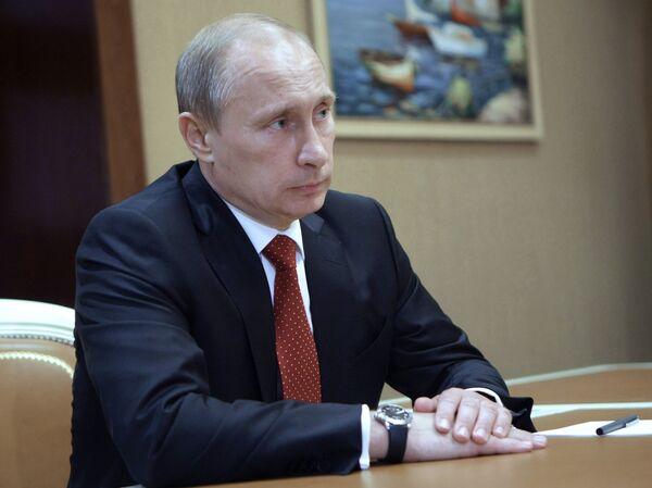 Премьер-министр РФ Владимир Путин во время рабочей поездки по Северному Кавказу