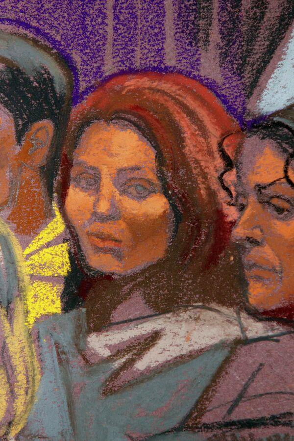 Подозреваемая в шпионаже Анна Чапман в зале суда 8 июля 2010 г.