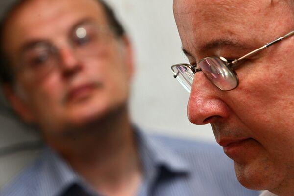 Андрей Ерофеев и Юрий Самодуров в момент оглашения приговора в Таганском суде Москвы