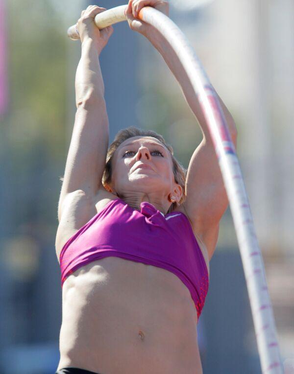 Легкая атлетика. Чемпионат России. Женщины. Прыжок с шестом
