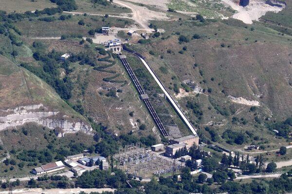 Съемка Баксанской ГЭС с вертолета за трое суток до взрыва
