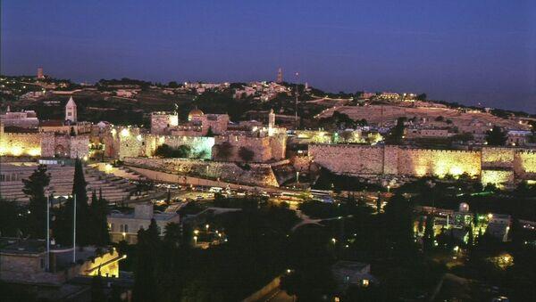 Ночной Иерусалим. Архивное фото