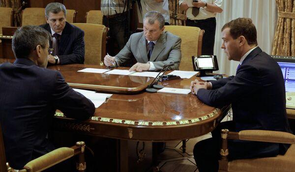 Дмитрий Медведев провел совещание по ситуации вокруг Баксанской ГЭС