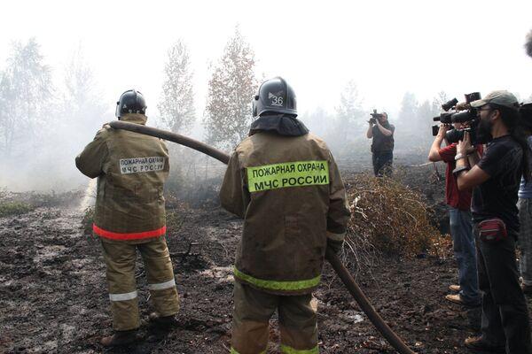 Торфяные пожары в Подмосковье
