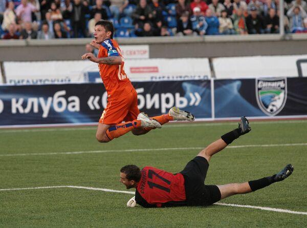 Игровой момент матча Сибирь - Аполлон