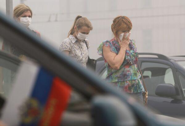 Смог в Москве и Московской области
