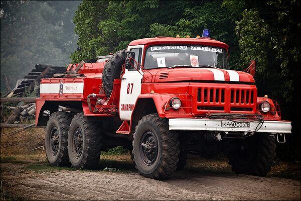 Тушение лесных пожаров в Рязанской области летом 2010 года