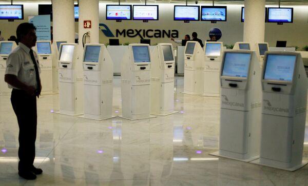 Крупнейшая мексиканская авиакомпания Mexicana. Архив