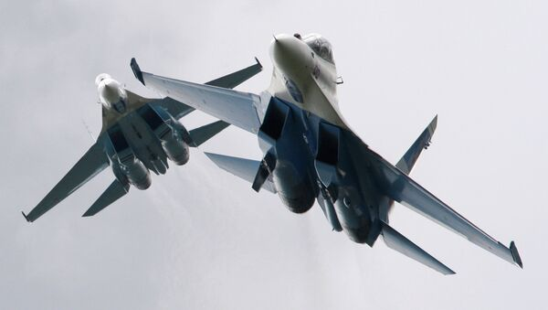 Истребители Су-27. Архивное фото