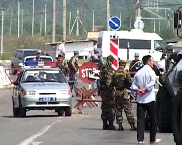 Смертник взорвал пост милиции в Северной Осетии. Видео с места ЧП