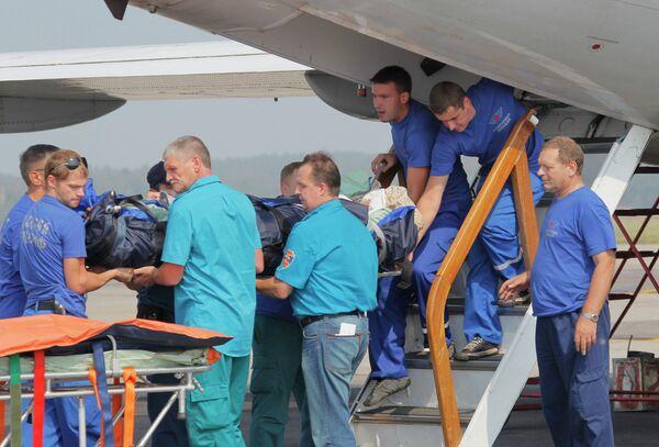 Борт МЧС РФ доставил в Москву пострадавших при теракте в Пятигорске