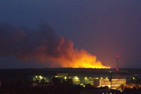 Пожар на свалке бытовых отходов в Подмосковье 18 августа 2010 года
