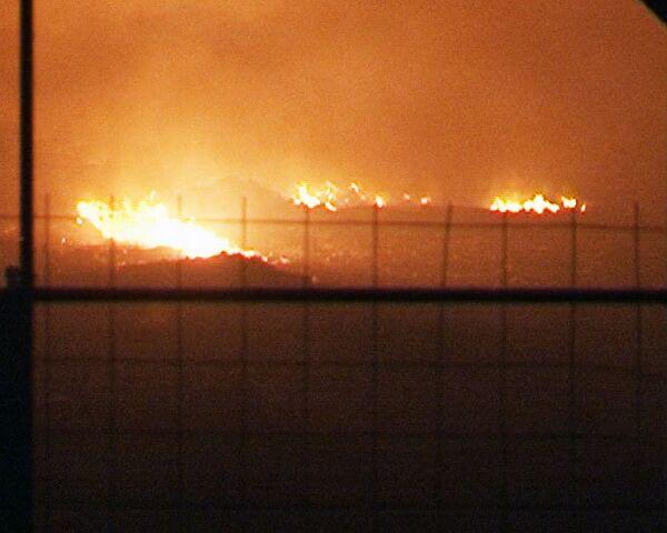 Зарево от горящей во Фрязино свалки видно за несколько километров