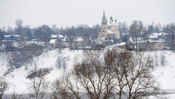 Вид на Воскресенский собор. Город Тутаев, Ярославская область.